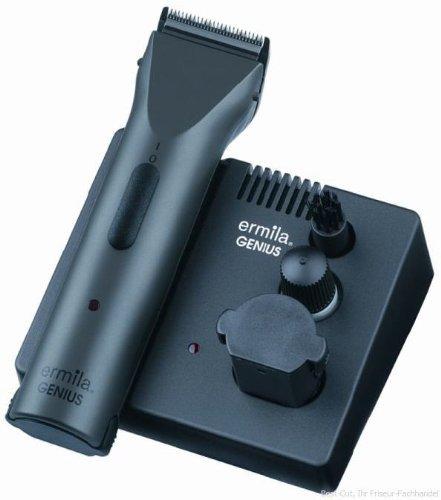 Ermila Profilinie Akku Haarschneider GENIUS, 0,7mm + 3-12mm, 100 Min. Akku-Power, 2 XL-Power-Wechselakkus, Edelstahlschneidsatz.