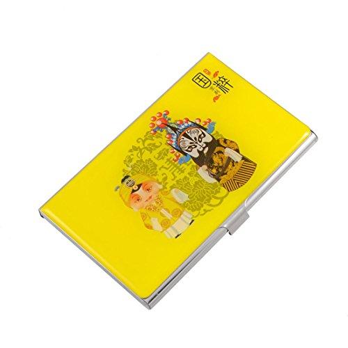 Preisvergleich Produktbild Sourcingmap Chinesische Oper Schauspieler Print Business Karte Fall–gelb