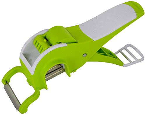 Famous KItchenware Plastic Multi Veg. Cutter With Peeler, 7 Cms x 6 Cms x 21 Cms