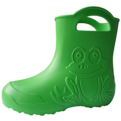 SAPRO SYSTEM Kids Boys Girls Wellies Rain Boots Warm Fleece-Lined Light Unisex Children Wellington Boots PVC-Free EVA