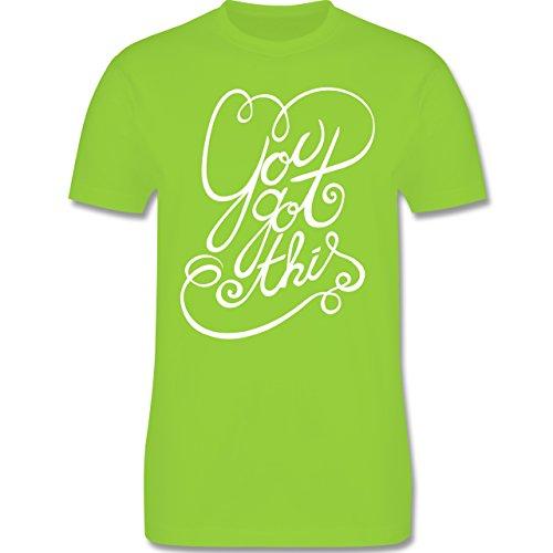 Statement Shirts - You got this - Herren Premium T-Shirt Hellgrün