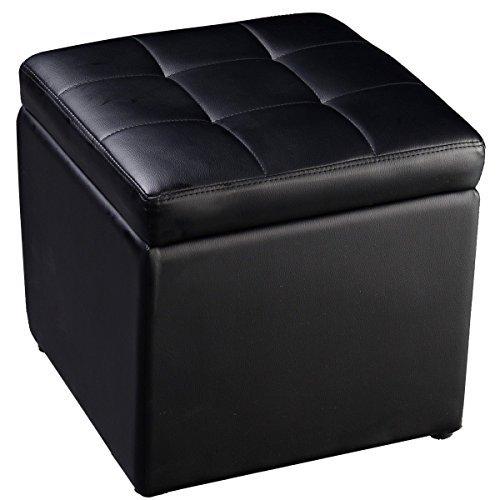 Cube Ottoman Pouffe Storage Box Lounge Seat Footstools