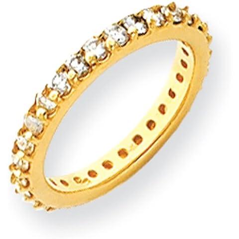 Oro 14ct Diamante Anello Eternity, taglia