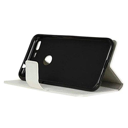 Kas Texture Pattern Horizontal Flip Stand Case Solide Farbe Leder Tasche mit Karte Cash Slots für Google Pixel XL ( Color : Pink , Size : Google Pixel XL ) White