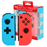 Wireless Controller für Nintendo Switch,Powcan 2er-Set Links Rechts Kabelloser Bluetooth Gamepad Controller,Pro Game Controller Gamepad Joypad Joystick Kompatibel mit Nintendo Switch
