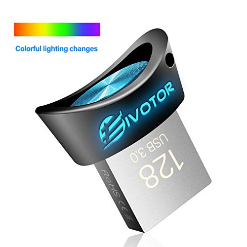 Clé USB 128Go 3.0, EIVOTOR Mini Flash Drive LED Lumineux Memory Stick Stockage Gradual Light Disque...