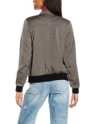 New Look Women's Sateen Bomber Varsity Jacket