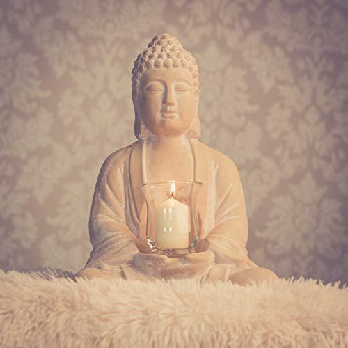 Buddha mit Teelicht Deko Figur 40cm groß betende - 5