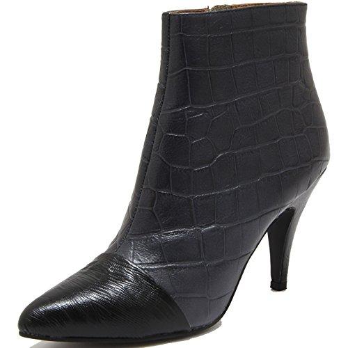 78161 tronchetto JEFFREY CAMPBELL JESSA scarpa stivale donna boots shoes women Nero/Grigio