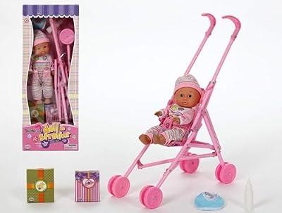 Carricoche con muñeca y accesorios. ATA12843 de Atosa