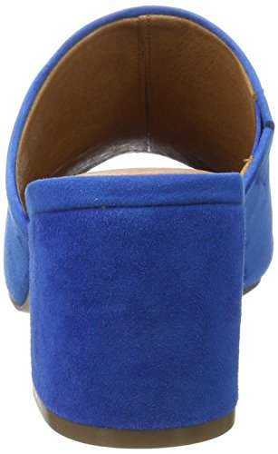 Bianco Suede Mule Sandal Jfm17, Sandales  Bout ouvert femme Bleu