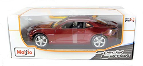maisto-118-scale-special-edition-diecast-model-2010-chevrolet-camaro-ss-rs-in-dark-red