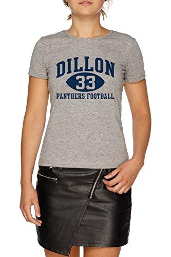 Dillon Panthers Football #33 Damen Grau T-Shirt Größe M   Women's Grey T-Shirt Size M