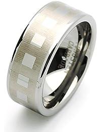 Pequeños Tesoros - 9MM Carburo De Tungsteno - Anillo De Matrimonio Laser Grabado Hombres Mujeres Libre