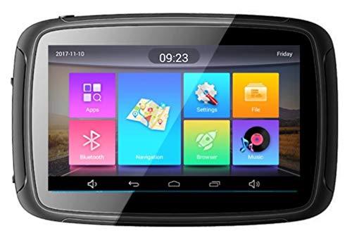 Elebest Rider A5 Navigationsgerät 5 Zoll Motorrad,PKW,Bluetooth,WiFi,Wasserdicht,Neuste Europa Karten Radarwarner,24GB Speicher,Blitzerwarnung