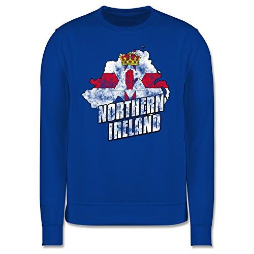 EM 2016 - Frankreich - Northern Ireland Umriss Vintage - Herren Premium Pullover Royalblau