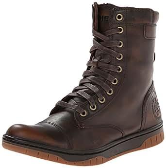 Diesel Men's Tatradium Basket Butch Zip Combat Boot, Coffee Bean, 9.5 M US