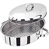 Judge - Cazuela para horno (ovalada, acero inoxidable, 32 cm, con base térmica)