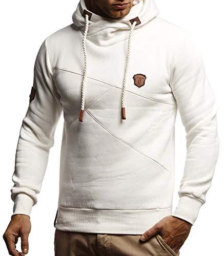 LEIF NELSON Herren Pullover-Hoodie Schalkragen | Moderner Sweatshirt-Kapuzenpullover | Männer Pulli Slim Fit|8240;XXL;EC