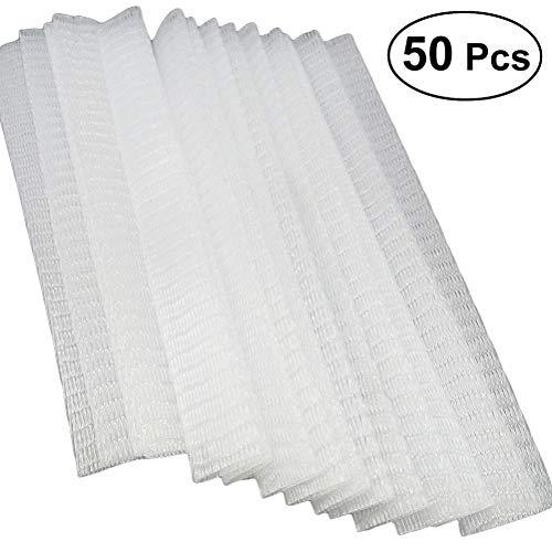 Frcolor 50pcs blanco componen maquillaje cosmético cepillo guantes vaina se adapta a la mayoría de los protectores de malla