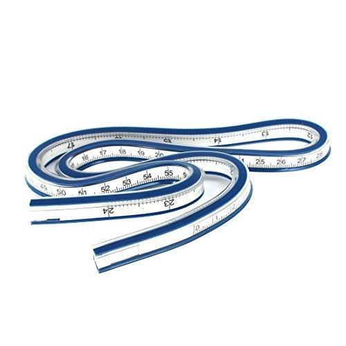 travail-du-bois-plastique-souple-60cm-61cm-flexible-curve-rgle-bleu-blanc