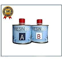 resina epoxi SUPER transparente g 320 fibra BICOMPONENTE A B-SUPER transparente agua para creaciones transparente-resina para joyas-resina para creaciones moldes-BESTSELLER de RESIN PRO