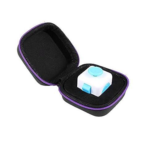 Covermason Cadeau pour Fidget Cube anxiété Stress Relief Focus dés sac boîte Carry Case Packet (violet)