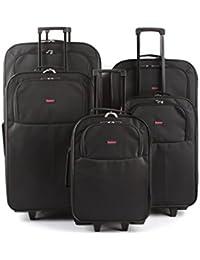 Conjunto de pieza Explorer cinco casos de carro compuesto por 32, 29, 26 pulgadas, además de cabina tamaño casos de 22 y 20 pulgadas