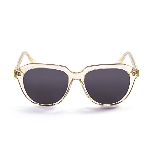 OCEAN SUNGLASSES Mavericks Lunettes de Soleil Mixte Adulte, Transparent White Gold/Smoke Lens