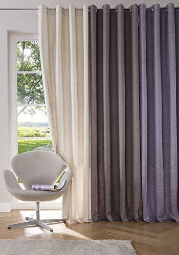 Home Affaire 2er Set Vorhang Siros Verdunkelung beschichtet Ösenaufhängung lila H/B 295x140 cm