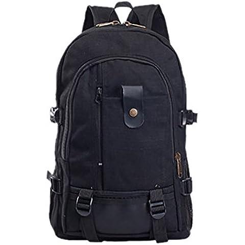 Mochila, bolsa para paseos y turismo, bolsa de senderismo, mochila pequeña, 25 l, color negro