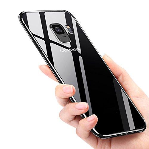 Samsung Galaxy S9 Hülle, Infreecs Handyhülle Galaxy S9 Silikon Bumper Case Crystal Clear TPU Case Ultra Dünn Anti-Shock Anti-Scratch Schutzhülle Tasche für Samsung Galaxy S9 Cover Case - Transparent