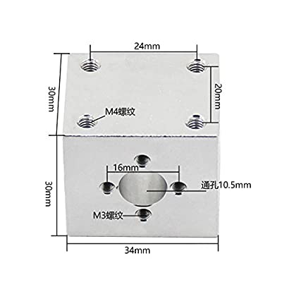 T8 Trapezgewindespindel Schraube Geh?use Aluminiumlegierung 3D Drucker Teile Aluminiumhalterung Hausteil Zubeh?r