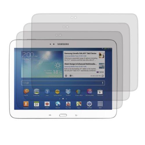 kwmobile 3X Samsung Galaxy Tab 3 10.1 P5200/P5210 Folie - Full Screen Tablet Schutzfolie für Samsung Galaxy Tab 3 10.1 P5200/P5210 entspiegelt