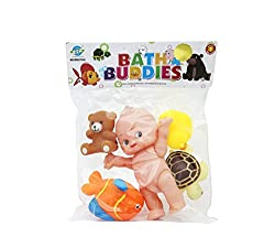 Shopaholic Bath Buddies 5 Pieces Bath Toys For Kids - RS0118-6