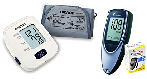 Omron Hem 7120 and Morepen BG 03 Meter (Multicolor)