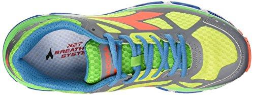 Diadora Herren N-4100-2 Bright Wettkampfschuhe Multicolore (C3612 Argento Dd/Giallo Fluo)