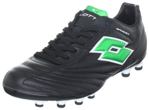 Lotto Sport STADIO FUORICLASSE II FG N4523, Chaussures de football homme Noir (TR-B1-Noir-187)