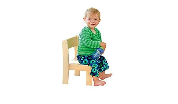 Unbekannt Massivholzstuhl Kinderstuhl Natur Für Körpergröße 70