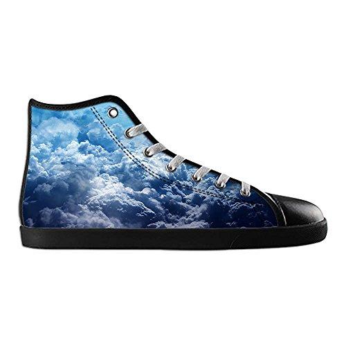 Dalliy Blue Clouds Men's Canvas Shoes Lace-up High-top Footwear Sneakers Chaussures de toile Baskets B