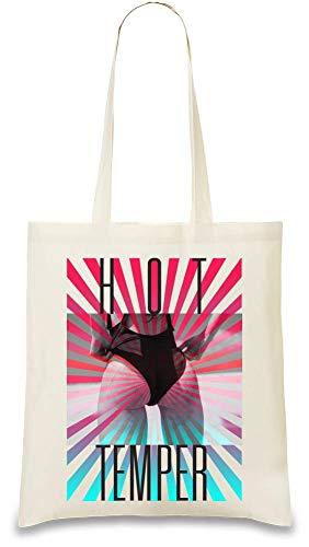 Heiße Temperament-Beute - Hot Temper Booty Bikini Custom Printed Tote Bag| 100% Soft Cotton| Natural Color & Eco-Friendly| Unique, Re-Usable & Stylish Handbag For Every Day Use| Custom Shoulder Bags -