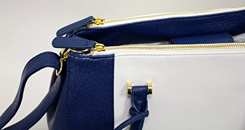 Other, Borsa a spalla donna large Navy/White