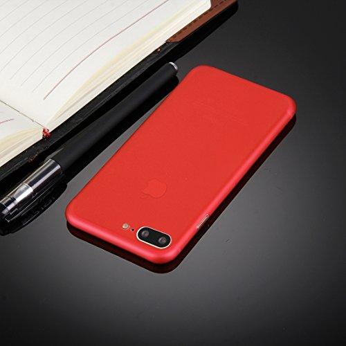 Fone-Stuff Apple iPhone 6s 0.3mm 6 Case Ultra Thin Slim Protective Cover Peau dure avec la protection de l'appareil photo en noir avec Protecteur d'écran gratuit Red