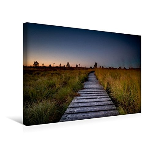 Premium Textil-Leinwand 45 cm x 30 cm quer, Die markanten Stege des Hohen Venns   Wandbild, Bild auf Keilrahmen, Fertigbild auf echter Leinwand, Leinwanddruck (CALVENDO Natur)