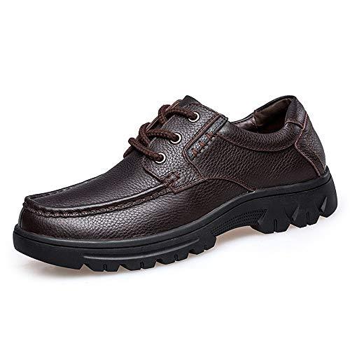 Apragaz Herren Business Oxfords Leder Kleid Bankett Loafers Antirutsch-Flache Schnürschuhe Im Freien. Gemütliche Schuhe (Color : Braun, Größe : 39 EU) (Jungen-brown-leder-kleid-schuhe)