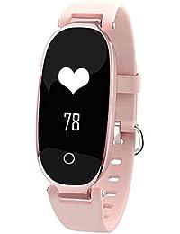 Hombres y mujeres Smartwatches,Reloj deportivo 50m resistente al agua Digital Contador de pasos Pulsómetro Multifunción Pulsera electrónica led Señoras-D