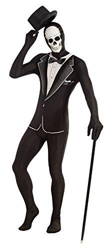 Forum Novelties AC607 Smoking Skelett Verschwindender Mann (Zucker Schädel Maske Kostüm)