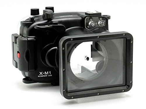 CamDive-40m-130ft-Waterproof-Underwater-Camera-Housing-for-Fujifilm-X-M1-Can-Be-used-with-16-50mm-Lens