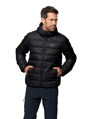 Jack Wolfskin Men Down Jacket Helium, Black, L