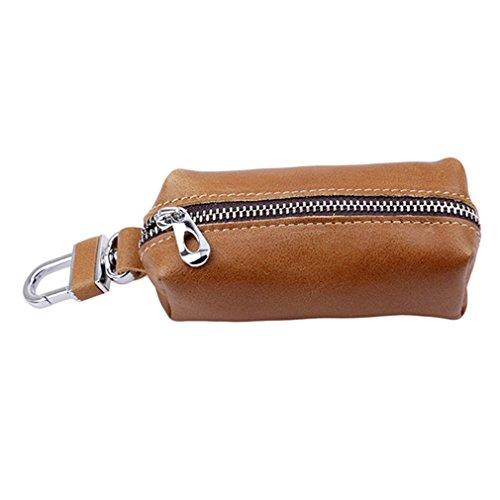 Canvivi Multifunktionale Schlüsseletui Schlüsselmäppchen PU Leder Praktisch Autoschlüssel Auto Key Schlüsseltasche Hülle Tasche mit Reißverschluss für Damen Herren